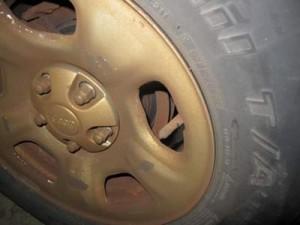 Rusted Rear Brake