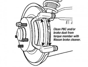 Nissan Maxima: Rear Caliper Clunk, Rattle Or Knocking Noise