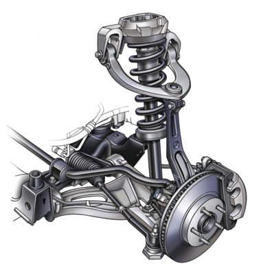 Cadillac spring alignment  front suspension