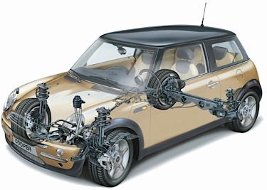Mini Cooper Alignment Cutaway