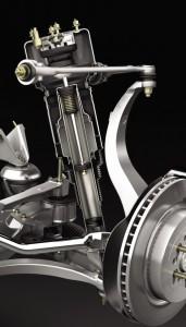 2004 Jaguar XJR front suspension.