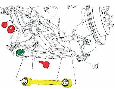 ford lincoln rear suspension toe