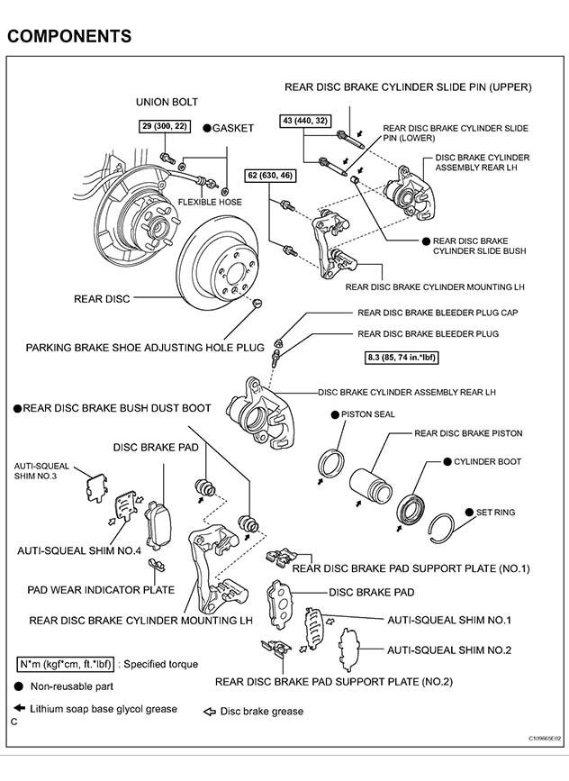2005-'12 Toyota Avalon Brake Job