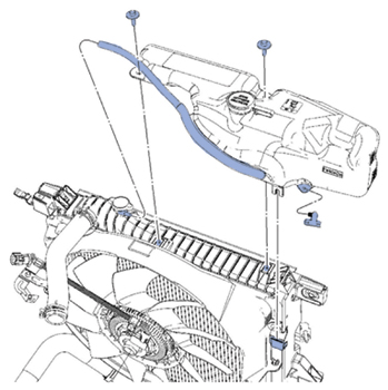 2006 ford 4.0l engine diagram tech tip coolant is leaking from ford s coolant expansion tank  leaking from ford s coolant expansion tank